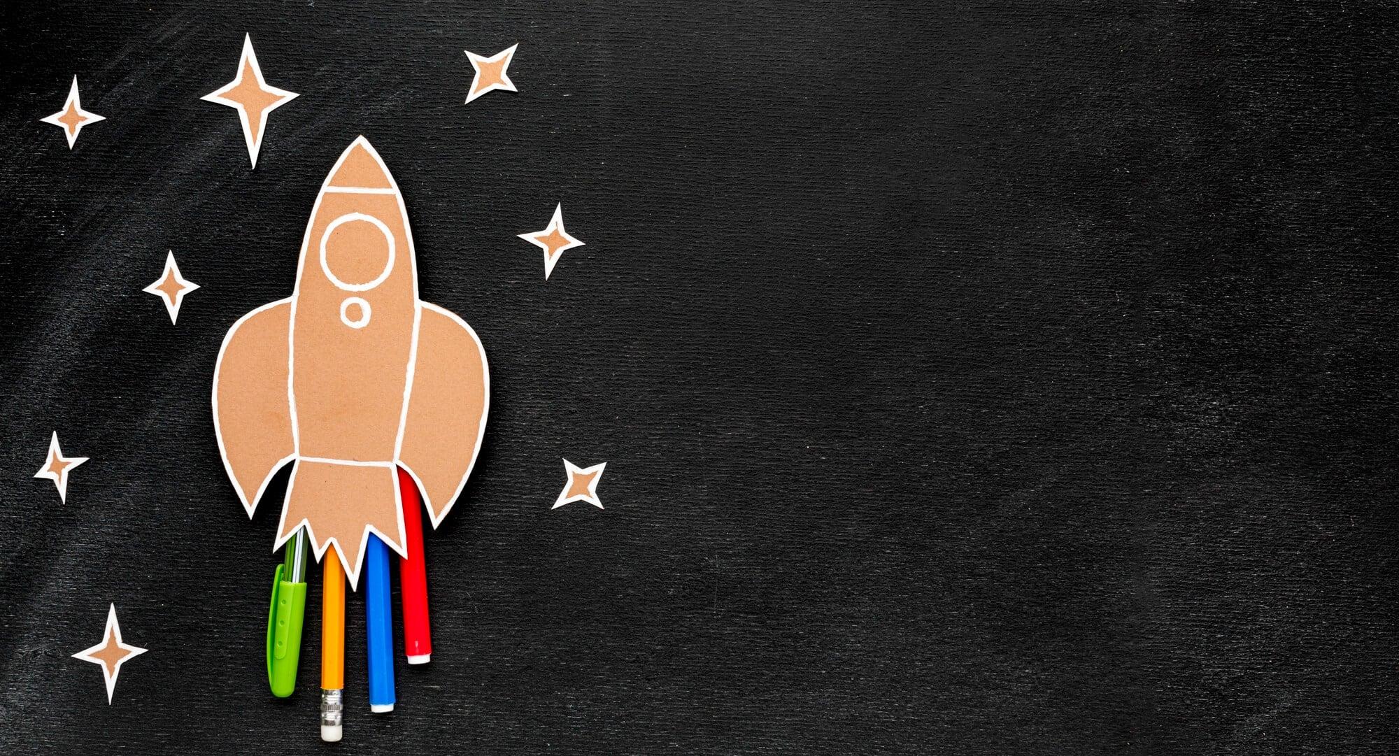 Un cohete representando los cripto launchpads
